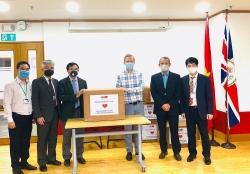 Hội hữu nghị Việt - Anh trao vật phẩm y tế chống dịch COVID-19 trị giá gần 500 triệu cho Anh