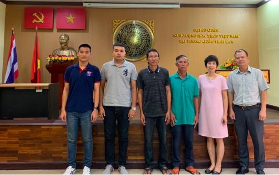 2 ngư dân Việt Nam được tàu Thái Lan cứu vớt sau 5 ngày trôi dạt trên biển