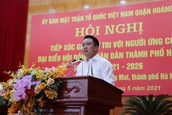 Cử tri quận Hoàng Mai nhất trí cao với chương trình hành động của các ứng cử viên đại biểu HĐND TP Hà Nội nhiệm kỳ 2021-2026