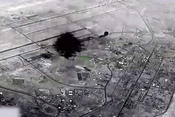 Mỹ công bố đoạn video căn cứ bị dội tên lửa của Iran