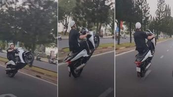 """Camera giao thông: Bốc đầu xe SH, thanh niên lĩnh cái kết """"chát đắng"""""""