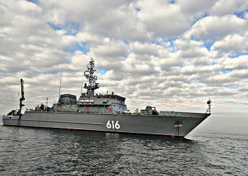 Hạm đội Thái Bình Dương của Nga đưa tàu quét mìn và tàu hộ tống tập trận ở Biển Nhật Bản