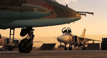 Ồ ạt nã trăm cuộc không kích vào sa mạc Syria, Nga dìm IS trong 'biển lửa'