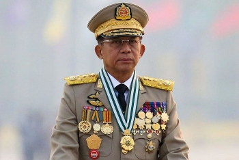 Lần đầu tiên Thống tướng quân đội Myanmar công du nước ngoài sau cuộc chính biến