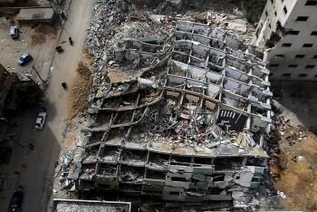 Nội bộ Israel bất đồng vụ đánh sập tòa nhà truyền thông ở Gaza