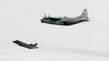 Không quân Italia công bố hình ảnh F-35 chặn An-12 Nga trên Biển Baltic