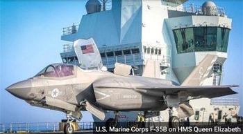 F-35B Mỹ tạo nên lịch sử trên HMS Queen Elizabeth kể từ sau Thế chiến 2