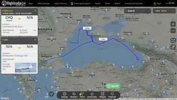 Máy bay quân sự Mỹ bị phát hiện gần Crimea