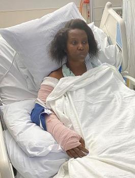 Hé lộ hình ảnh đầu tiên của phu nhân cố Tổng thống Haiti sau vụ ám sát chấn động