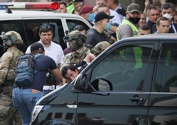 Đặc nhiệm Ukraine khống chế người đàn ông dọa mang bom nổ tung trung tâm thương mại