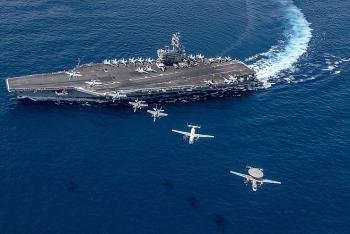 Bất chấp Trung Quốc phản đối, nhóm tác chiến tàu sân bay Mỹ vẫn tập trận ở Biển Đông