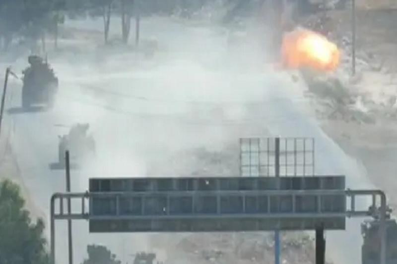 Quân Thổ Nhĩ Kỳ bị lực lượng bí ẩn nã pháo dữ dội khi đang bắt đầu chuyến tuần tra