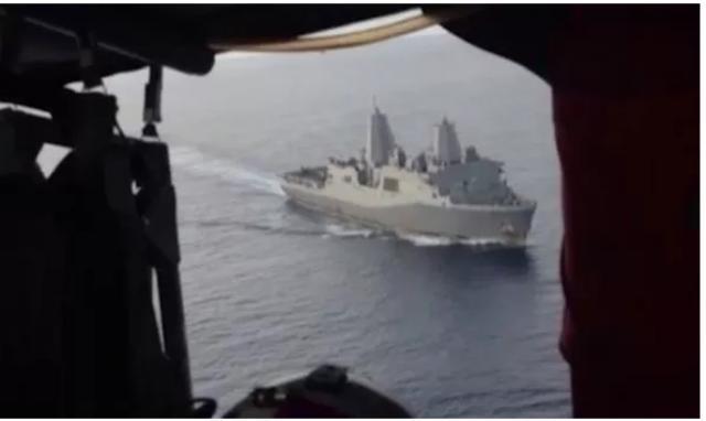 Hải quân Mỹ công bố video trinh sát cơ thách thức tàu Trung Quốc ở biển Đông