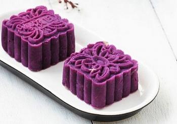 Làm bánh trung thu không cần lò nướng: Bánh trung thu khoai lang tím màu sắc bắt mắt, vị ngọt bùi lạ lạ