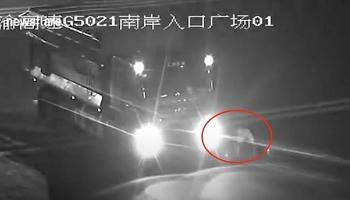 Camera giao thông: Tài xế xe tải vô tư dừng xe để tập thể dục trên cao tốc