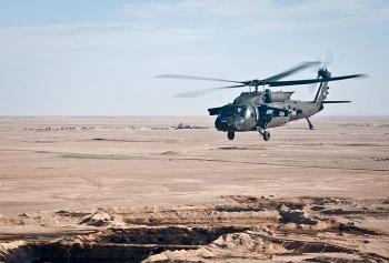 Trực thăng quân sự Mỹ rơi gần biên giới Iraq - Syria chưa rõ nguyên nhân
