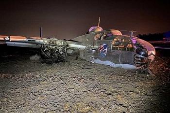 Máy bay ném bom B-25 bất ngờ gặp nạn tại Mỹ
