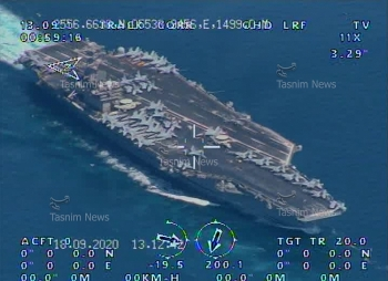 Máy bay Iran phát hiện tàu sân bay và tàu hộ tống của Mỹ âm thầm tiến vào vịnh Ba Tư