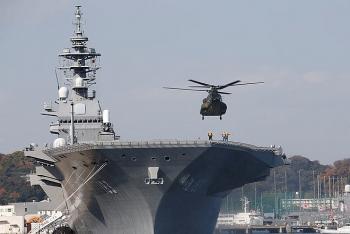 Tàu sân bay Nhật tập trận chống tàu ngầm hoành tráng trên Biển Đông