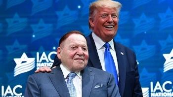 Ông trùm sòng bạc Adelson ước tính ủng hộ Tổng thống Trump số tiền kỷ lục 250 triệu USD