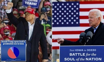 Ông Trump bất ngờ đảo ngược thế cờ, vượt lên dẫn trước ở 2 bang chiến trường