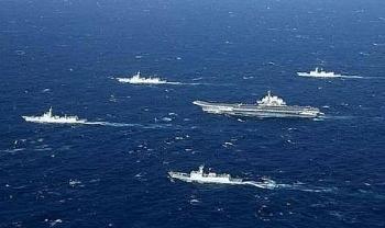 Sau khi tàu Mỹ xuất hiện ở Biển Đông, Trung Quốc lập tức thông báo tập trận bắn đạn thật