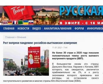 Báo Nga đánh giá cao chính sách đối ngoại hòa bình và xoá đói giảm nghèo của Việt Nam