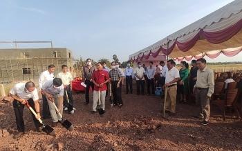Khởi công nhà sinh hoạt cộng đồng rộng 750 m2 cho người gốc Việt Nam ở Campuchia