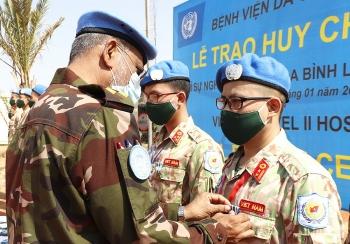 Bệnh viện dã chiến của Việt Nam nhận Huy chương Vì sự nghiệp Gìn giữ hòa bình Liên hợp quốc