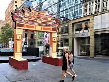 Cổng chào của Việt Nam gây ấn tượng tại lễ hội Tết Nguyên đán 2021 ở Sydney