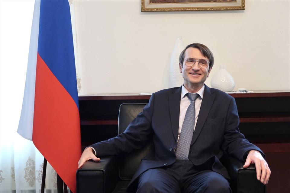 Tham tán - Công sứ Vadim Bublikov. Ảnh: Vân Anh