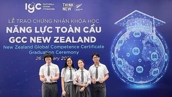 25 học sinh Việt Nam đầu tiên nhận chứng chỉ Năng lực toàn cầu của New Zealand