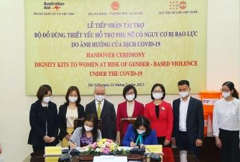 UNFPA bàn giao 2.750 bộ đồ dùng thiết yếu hỗ trợ phụ nữ có nguy cơ bị bạo lực