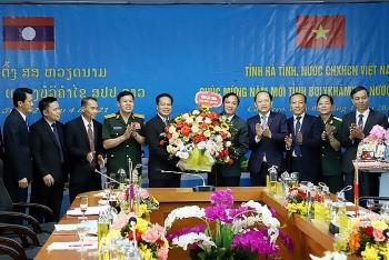 Hà Tĩnh chúc Tết cổ truyền Bunpimay chính quyền và nhân dân tỉnh Bôlykhămxay, Lào