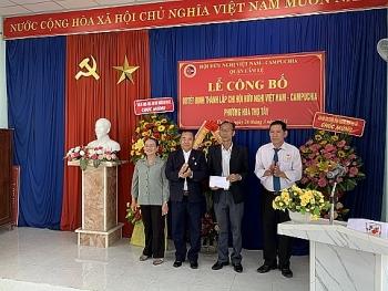 Thành lập Chi hội Việt Nam - Campuchia phường Hòa Thọ Tây, quận Cẩm Lệ (Đà Nẵng)