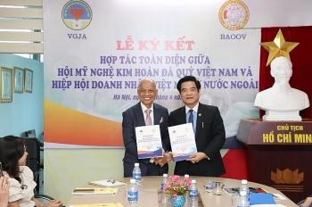 Hiệp Hội Doanh nhân Việt Nam ở nước ngoài kí kết hợp tác với VGJA