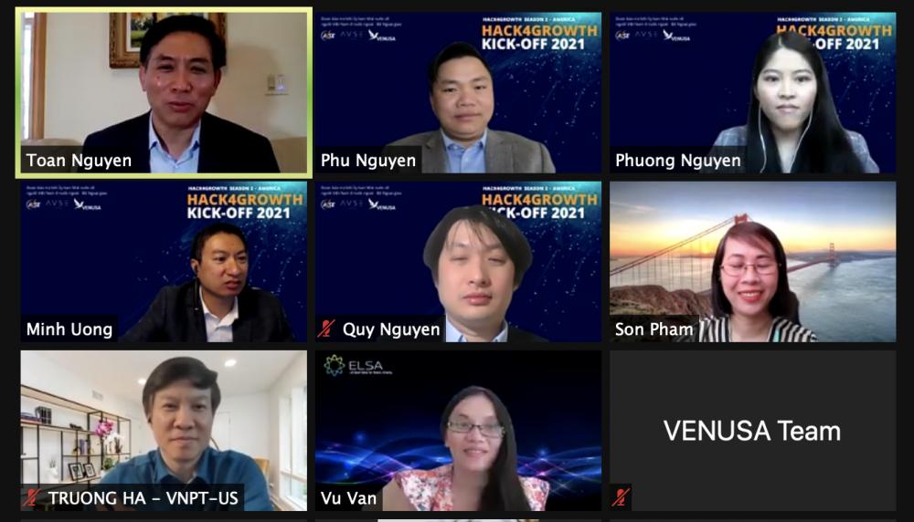 Hội Doanh nhân người Việt tại Mỹ tổ chức khai mạc cuộc thi Hack4Growth khu vực Bắc Mỹ 2021