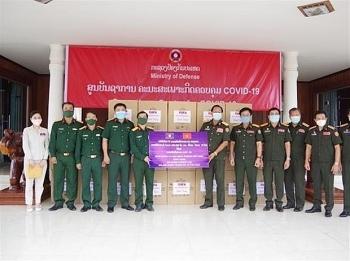 Binh đoàn 11, Quân khu 4 trao vật tư y tế hỗ trợ Lào phòng dịch COVID-19