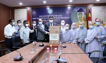 Giáo hội Phật giáo Việt Nam tiếp tục trao tặng thiết bị y tế hỗ trợ nhân dân Ấn Độ