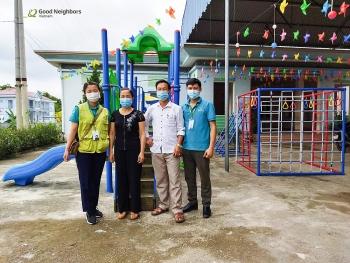 GNI hỗ trợ thiết bị sân chơi cho trường Mầm non Chi Thiết (Tuyên Quang)
