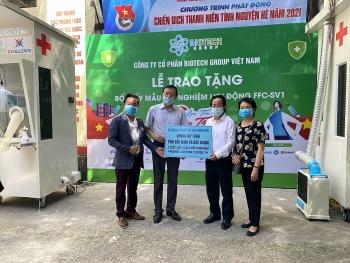 Biotech Việt Nam, VASI, ALOV tặng tỉnh Bắc Ninh, Bắc Giang bốt lấy mẫu xét nghiệm di động