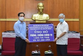 Cộng đồng người Việt Nam ở nước ngoài ủng hộ 6,2 tỷ đồng cho Quỹ vaccine phòng chống Covid-19