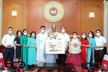 Đoàn Phật giáo Việt Nam tại Hàn Quốc và CLB họ Phan tại Hà Nội ủng hộ Quỹ vaccine Covid-19
