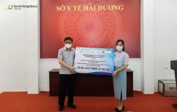 Good Neighbors Việt Nam tặng dung dịch sát khuẩn phòng COVID-19 cho tỉnh Hải Dương