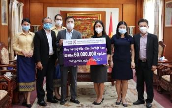 LaoVietBank ủng hộ 115 triệu đồng cho Quỹ vaccine phòng COVID-19 của Việt Nam