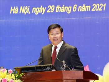 Tổng Bí thư, Chủ tịch nước Lào thăm Học viện Chính trị Quốc gia Hồ Chí Minh