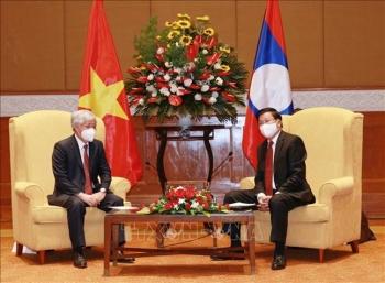 Tổng Bí thư, Chủ tịch nước Thongloun Sisoulith ghi nhận đóng góp, hy sinh của đội ngũ chuyên gia và quân tình nguyện Việt Nam