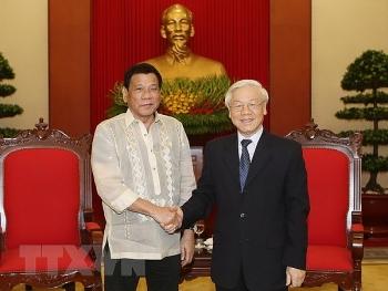 Lãnh đạo Đảng, Nhà nước gửi điện mừng nhân 45 năm thiết lập quan hệ ngoại giao Việt Nam - Philippines