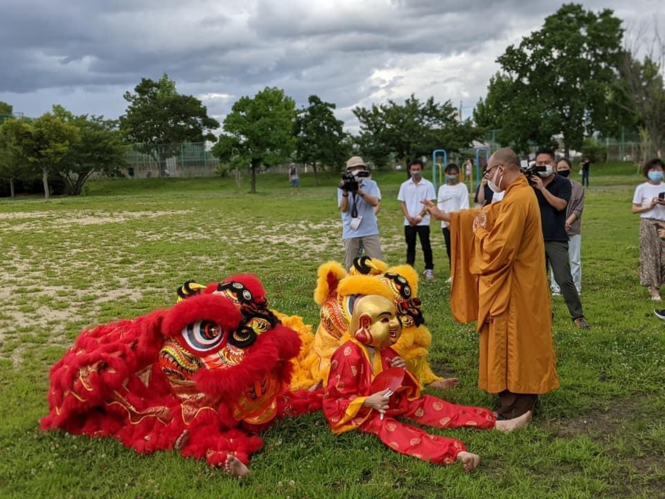 Hội Hữu nghị Việt Nam-Osaka ra mắt Đội lân Osaka