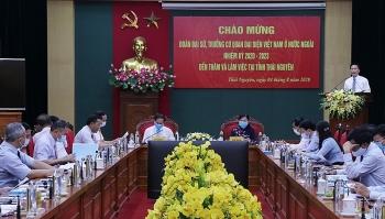 Đoàn Đại sứ, Trưởng các Cơ quan đại diện Việt Nam ở nước ngoài làm việc tại Thái Nguyên
